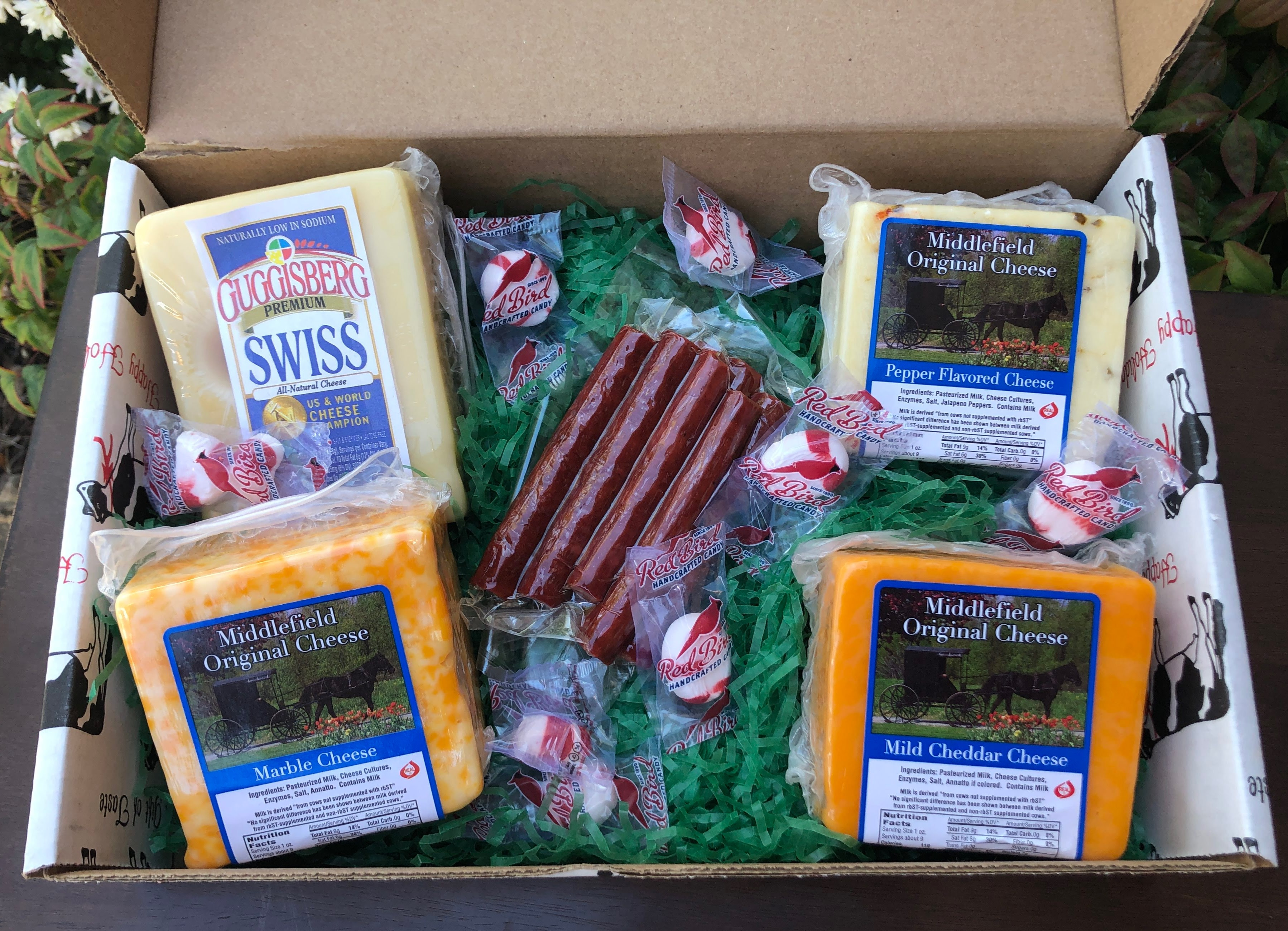 Small Amish Gift Box cheese gift, gift, gift set, set, cheese set, amish cheese gift box, amish cheese box, amish cheeses, amish beef sticks, assorted candies, candies, candy, beef, beef sticks, amish candy, simply cheese gift box, organic cheese, organic amish cheese, cheese, amish, amish farm, amish organic cheese, simply cheese, local amish cheese, amish cheese near me
