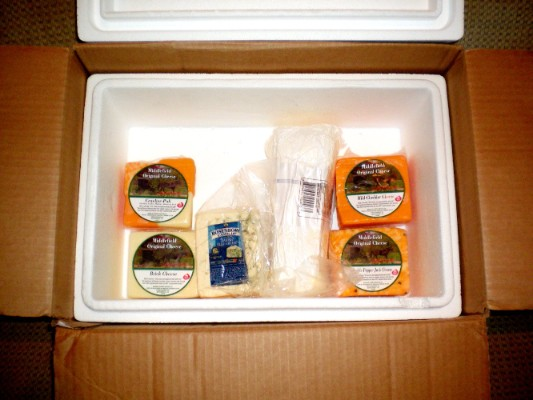 Small Insulated Shipping Carton: 1-12 lbs insulated shipping carton, carton, small, shipping carton, simply cheese